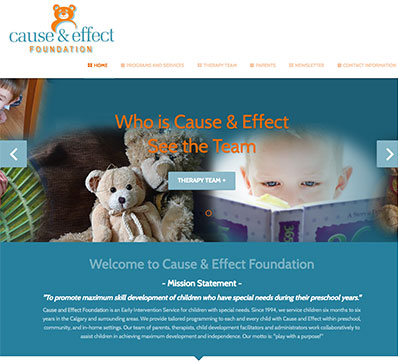 screen capture of the Sled Parlor Joomla template website designed by Sheldon Ball of LeadOn Consulting